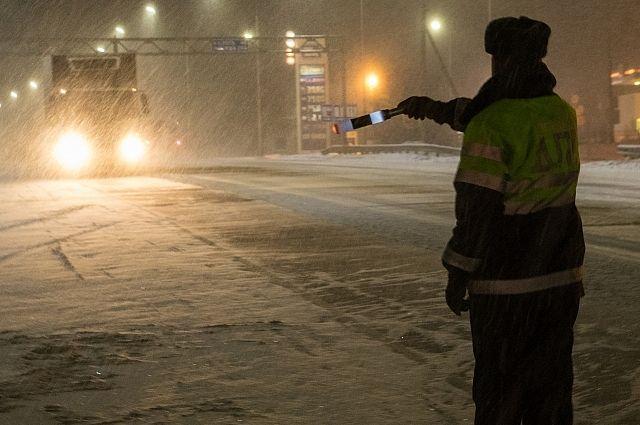 Омские полицейские остановили на трассе автобус с нелегальными мигрантами