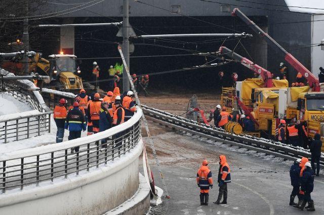 Бирюков: движение в районе Тушинского тоннеля должны восстановить завтра