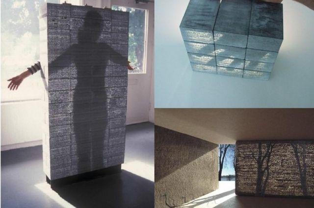 При изготовлении прозрачного бетона используют волокна, которые проводят в помещение солнечный свет. Фото предоставил В. Плотников.