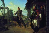 «Возвращение солдата на родину», художник Николай Неврев.