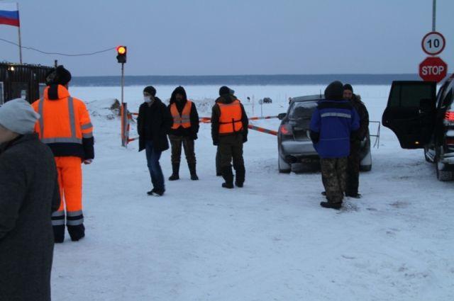 В НСО наконец открыли вторую ледовую переправу через Обское море