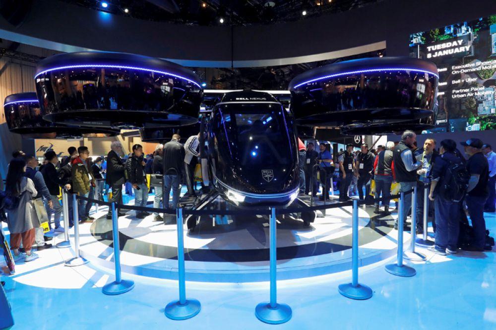 Прототип пятиместного аэротакси Bell Nexus, представленный на международной выставке CES 2019 в Лас-Вегасе, США.