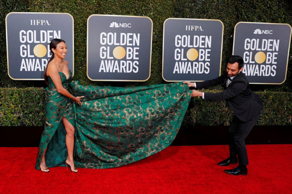 Американская телезвезда Жанни Май на красной ковровой дорожке 76-ой премии «Золотой глобус» в Беверли-Хиллз, Калифорния.