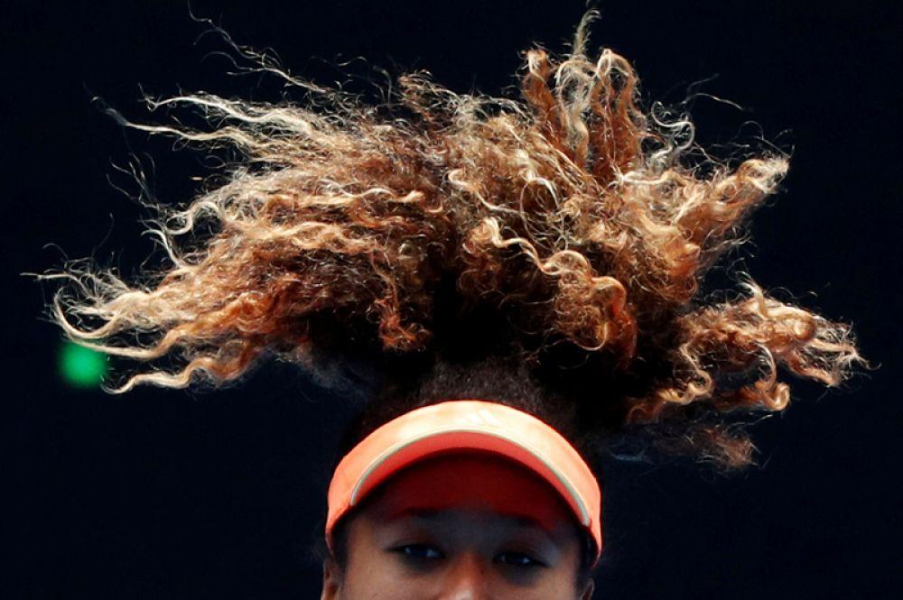 Японская теннисистка Наоми Осака на Открытом чемпионате Австралии по теннису в Мельбурне.