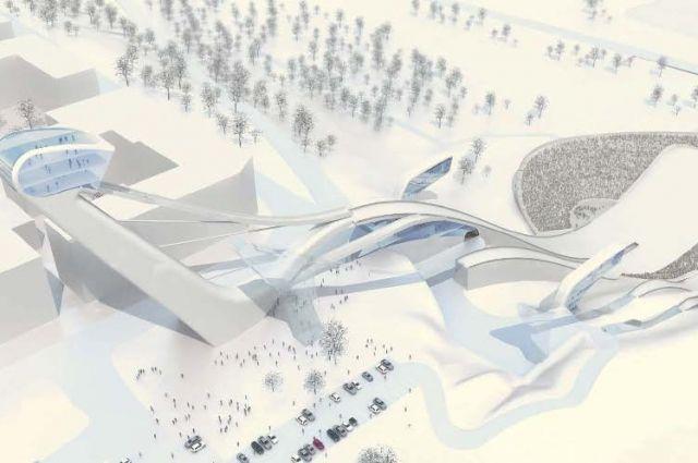 Проект трамплинного комплекса наконец воплощают в жизнь.