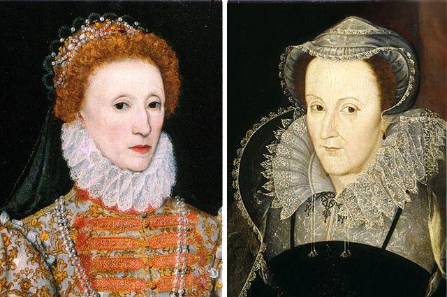 Елизавета I и Мария Стюарт.