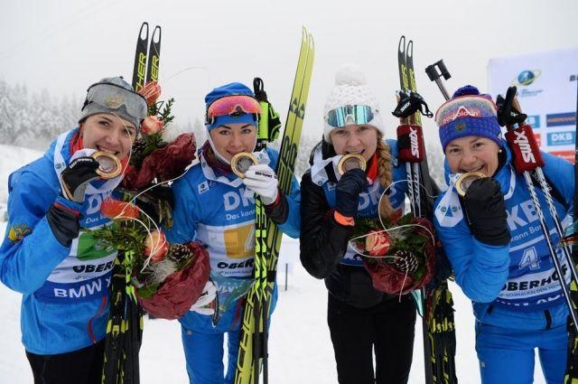 Ямальская биатлонистка стала чемпионкой в составе женской сборной страны