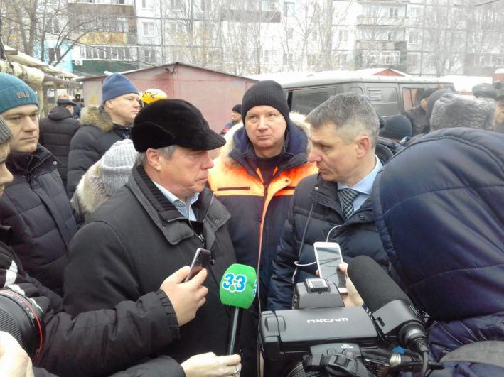На место Чп прибыл губернатор Ростовской области Василий Голубев