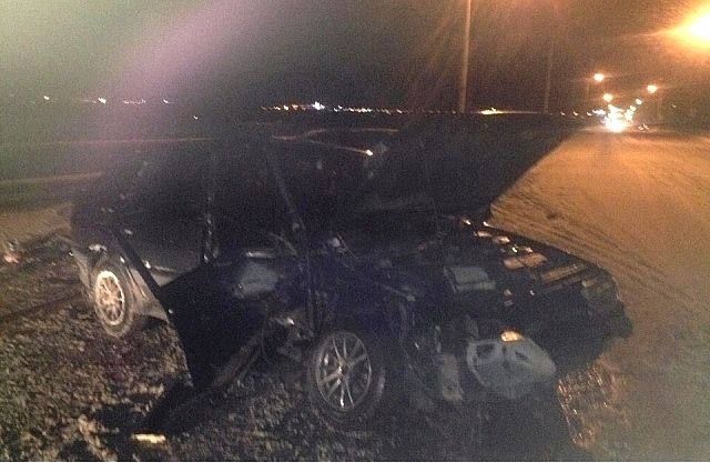 Водителя увезли в больницу.