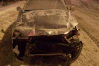 Водитель автомобиля «Дэу» совершил столкновение с трамваем «Т3»