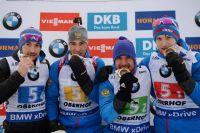 Максим Цветков, Евгений Гараничев, Дмитрий Малышко, Александр Логинов, завоевавшие золотые медали в Оберхофе.