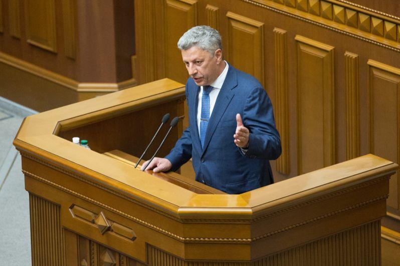 Юрий Бойко, лидер фракции «Оппозиционный блок».