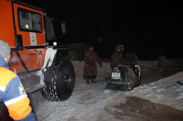 На Ямале из тундры эвакуировали семью, у которой сломался снегоход