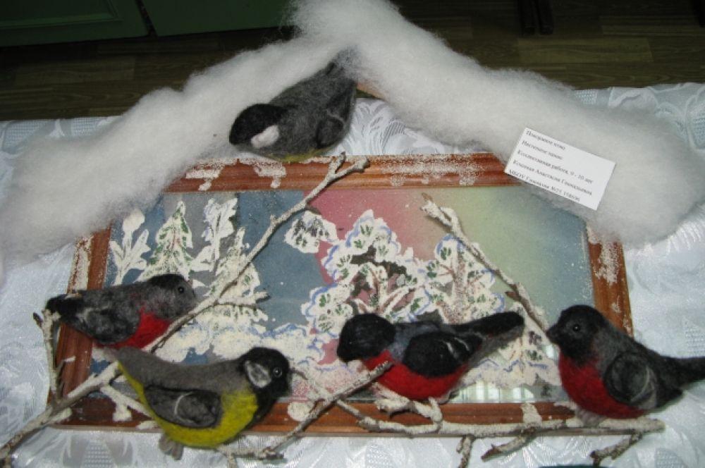 Коллективная работа учащихся 9-10 лет, «Покормите птиц», МБОУ гимназия №25