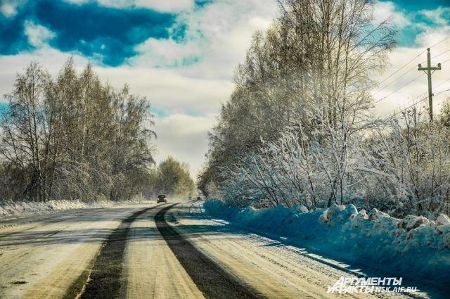 НА дорогах области возможные метели и снежные заносы.