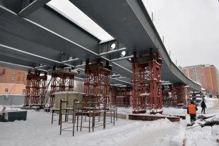 Строительство путепровода через Курское направление МЖД врамках реконструкции Дорожной улицы.