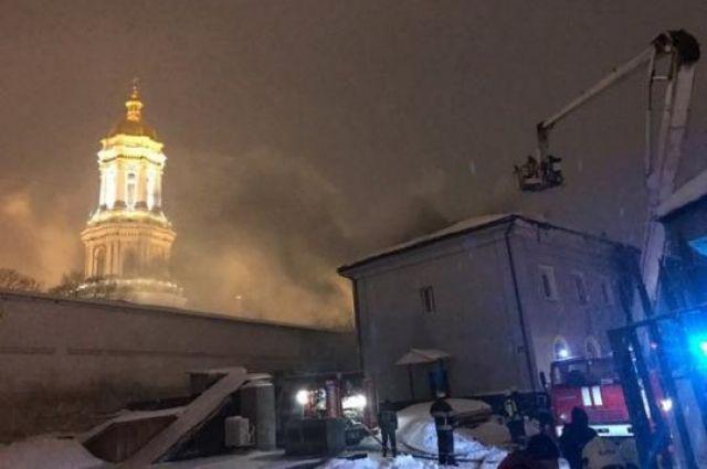 Пожар в Киево-Печерской лавре: полиция предполагает умышленный поджог