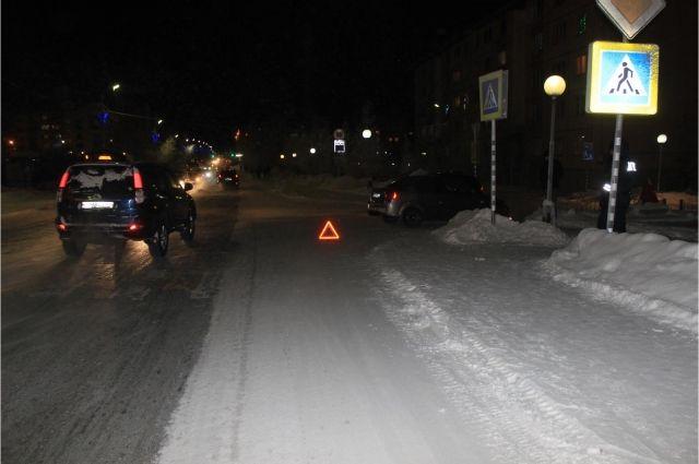 В Салехарде водитель Kia сбил подростка на пешеходном переходе