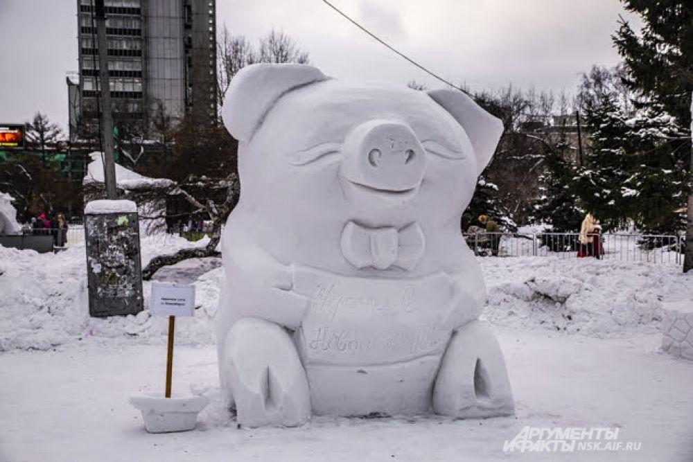 Мастера из разных городов тоже не обошли вниманием символ наступившего года - Свинью.
