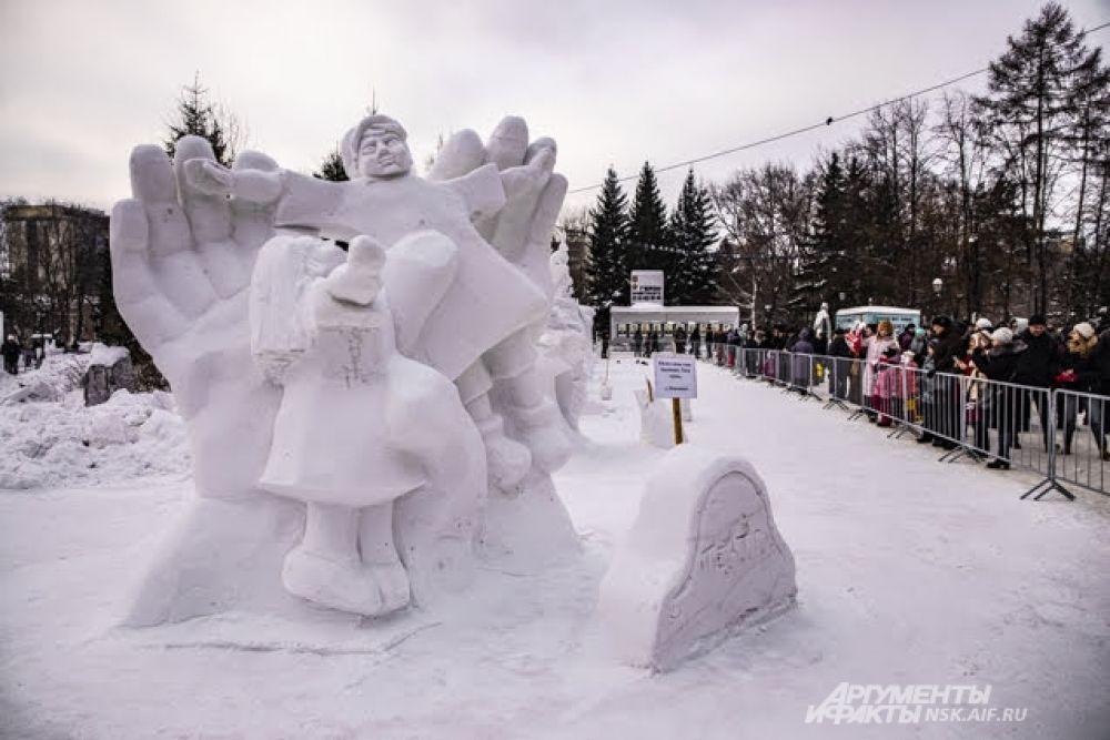 В 2019 году в Новосибирске, как обычно, прошёл фестиваль снежных скульптур.