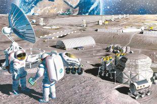 Возможно, так в ближайшем будущем будет выглядеть лунная база.