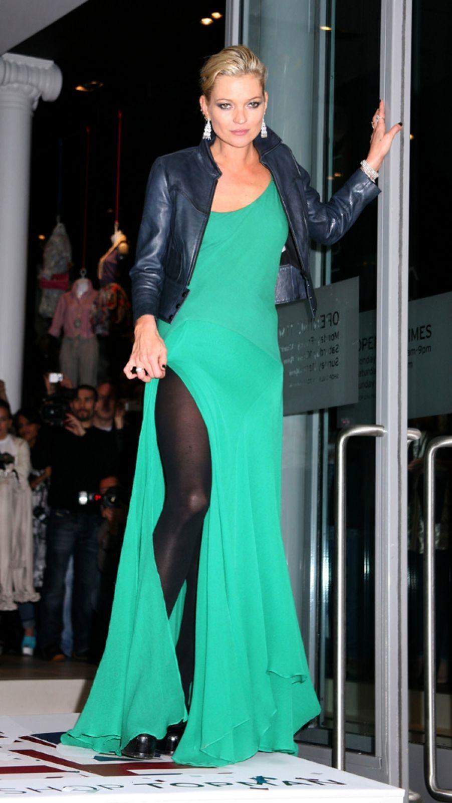 Кейт Мосс на открытии магазина Topshop в Нью-Йорке. 2009 год.