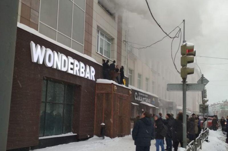 Пожар произошёл на третьем этаже офисного здания в центре Перми.