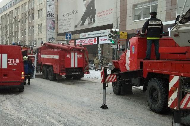 Пожар в центре Перми.