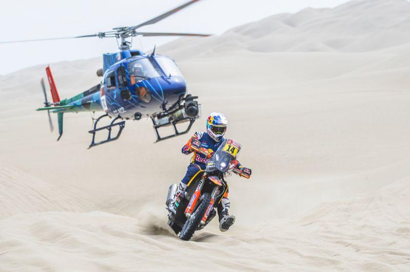 Британский мотогонщик Сэм Сандерленд из команды Red Bull KTM Factory Team в гонке второго этапа на участке Писко – Сан Хуан де Маркона.