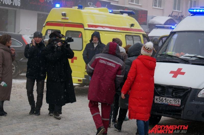 По данным скорой помощи, в результате пожара пострадало 14 человек.