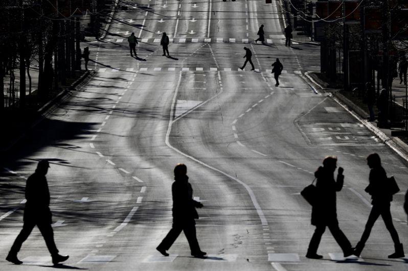 Перекрытое автомобильное движение на улицах Белграда.