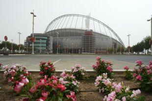 Стадион «Халифа» в городе Дохе.