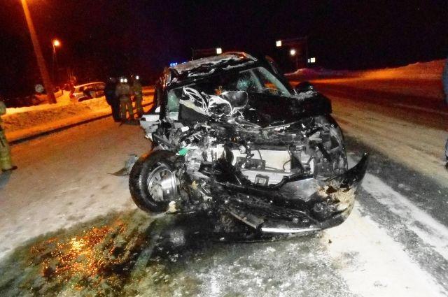 Смертельная авария на 34 километре в сторону села Корткерос.