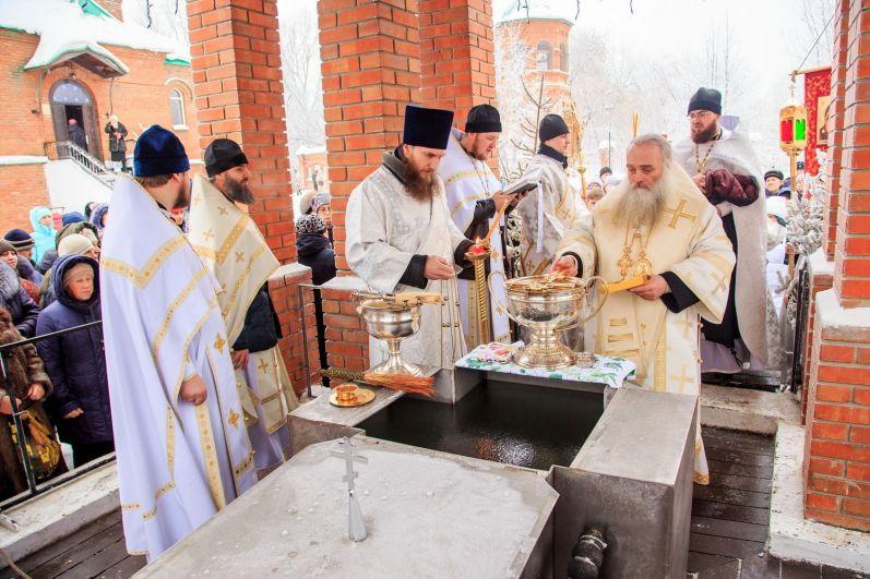 Крещенский сочельник в Богоявленской церкви.