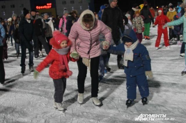В Оренбурге «Вечер на коньках» пройдет 1 февраля