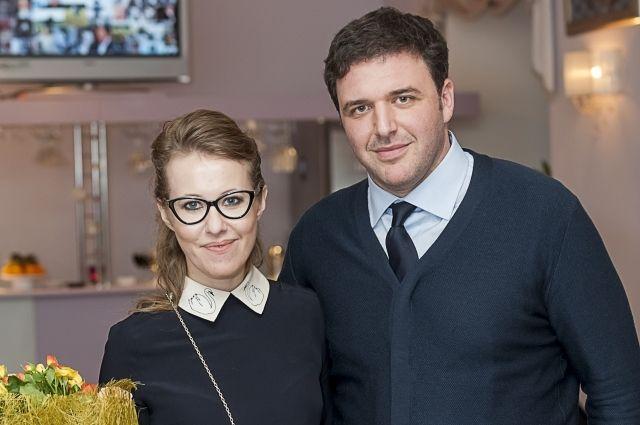 Максим Виторган с супругой, телеведущей Ксенией Собчак, архивное фото