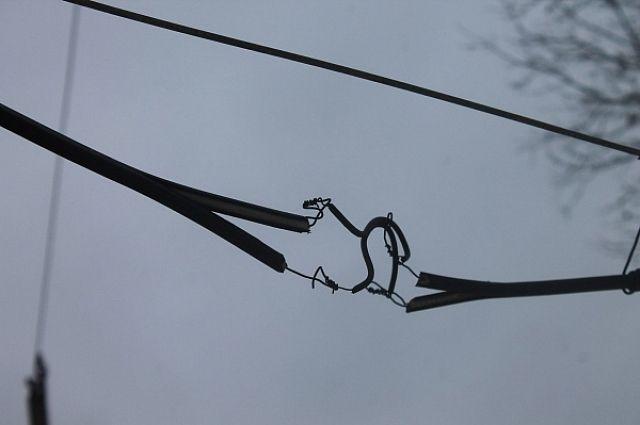 Оголённые провода находились на высоте вытянутой руки.