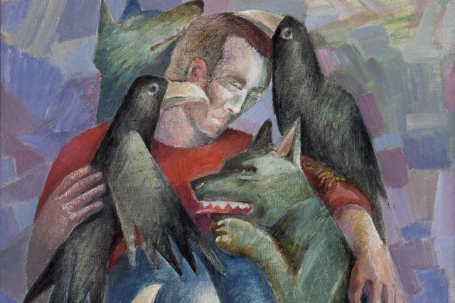 Волки и вороны могут с человеком дружить.
