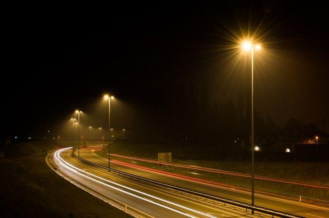 На трассе в районе Салехарда установили 280 светодиодных фонарей