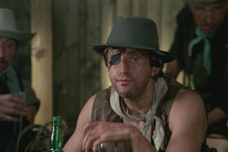 «Человек с бульвара Капуцинов» (1987) — одноглазый ковбой.
