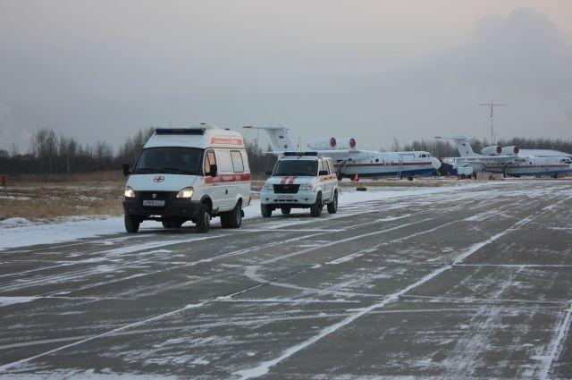 Пострадавшего при пожаре ребенка доставили в Хабаровск санавиацией.