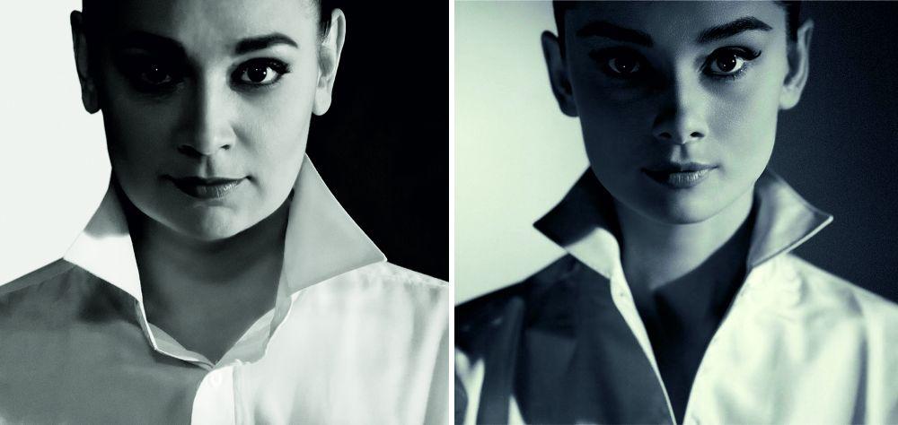 Алсу Густова в образе Одри Хепберн.