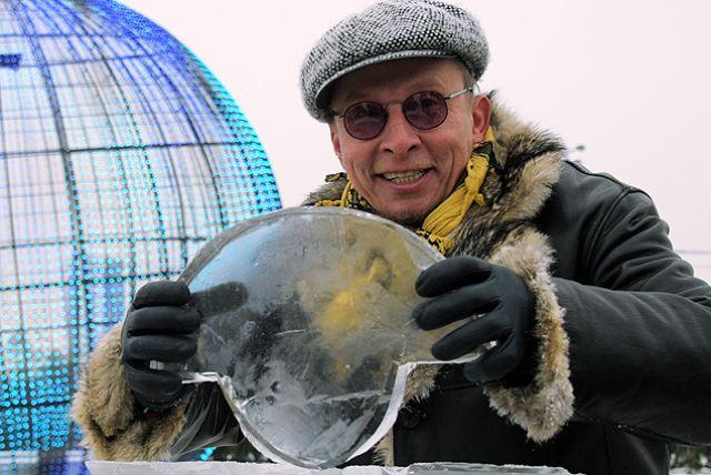 Иван Охлобыстин на фестивале «Ледовая Москва. В кругу семьи». Декабрь 2018 г.
