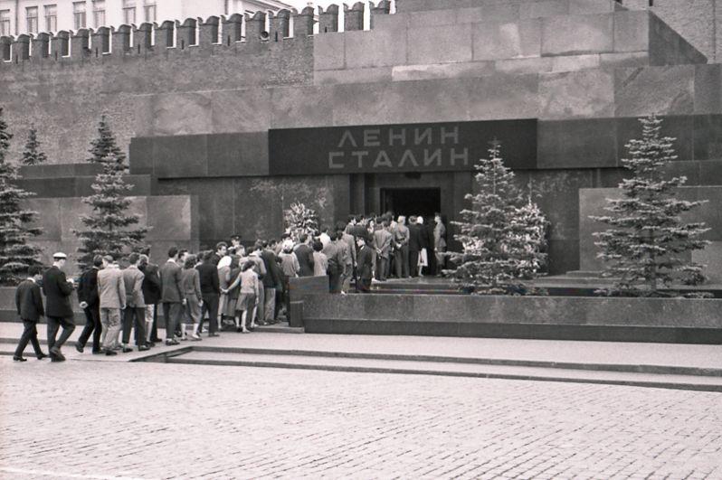 Мавзолей Ленина-Сталина, 1957 год.