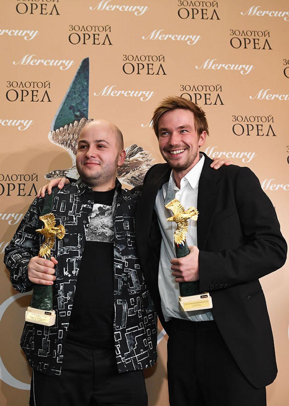 Режиссер Егор Баранов, получивший приз в номинации «Лучший телефильм или мини-сериал (до 10 серий)» и актер Александр Петров, победивший в номинации «Лучшая мужская роль на телевидении» («Sпарта»).