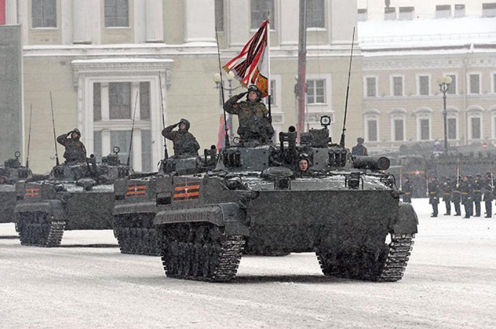 Боевые машины пехоты БМП-3.