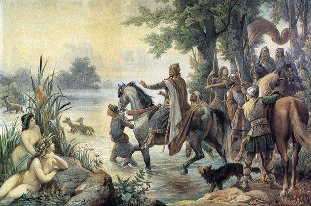 Картина «Основание Франкфурта Карлом Великим».