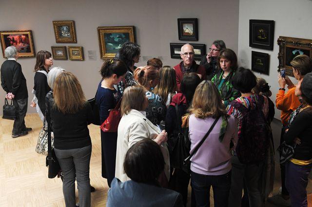 Выставка «Архип Куинджи» в Инженерном корпусе Государственной Третьяковской галереи в Москве.