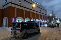 Полиции возле Инженерного корпуса Третьяковской галереи в Москве. 27.01.2018 г.