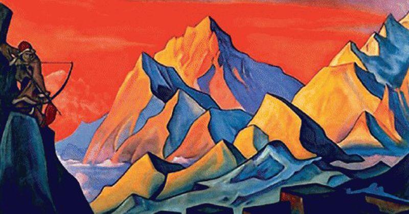 В 2008 году из квартиры старшего сына Николая Рериха Юрия были украдены четыре картины художника — «Весть Шамбалы» (на фото), «Тень Учителя», «Бум-Эрдени» и «Сергий-строитель». «Весть Шамбалы» была найдена спустя два года.